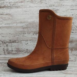 NWT Ulan Microsuede Rubber Rain Boots